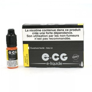 Lot de 5 Flacons E-CG - Goût Anglais 16 mg/ml