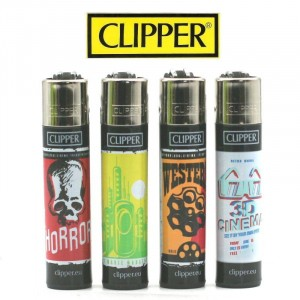 Lot de 4 Briquets Clipper – Movies Theater 2