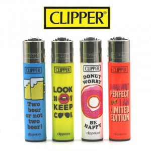 Lot de 4 Briquets Clipper – Funny Quotes 2