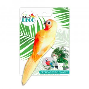 Déco Plantes – Medium Oiseau Orange CD3826