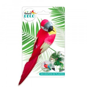Déco Plantes – Grand Oiseau Rouge CD3823