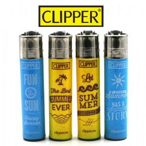 Lot de 4 Briquets Clipper – Summer Sand