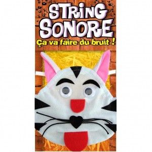 String Sonore pour Homme - String Chat