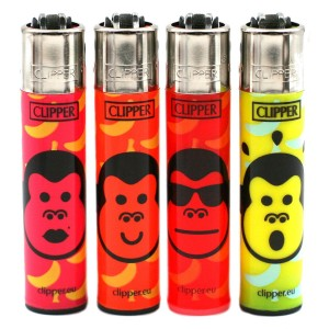 Lot de 4 Briquets Clipper – Monkey's Town
