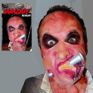 Masque Bouche avec Clou- Horror Party