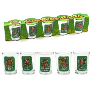 Shooters Rasta - Lot de 5