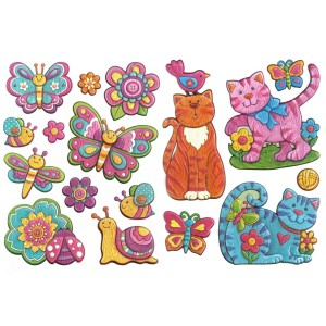 Créative Stickers 3D - Pink Land -