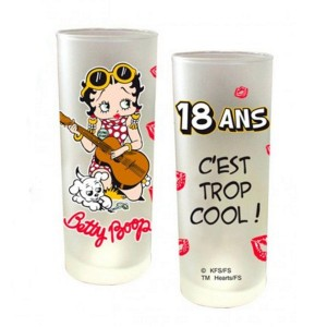 Verre Betty Boop - 18 ans