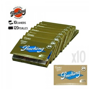 10 Carnets de Feuille - SMOKING Double Gold