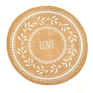 Set de Table en Jute - LOVE - lot de six