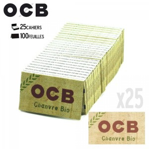 25 Paquets OCB Chanvre Bio (Regular)