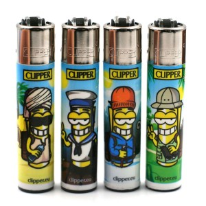 Lot de 4 Briquets Clipper – Clipperman Globetrotter