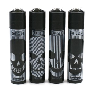 Lot de 4 Briquets Clipper – Rockskulls 3