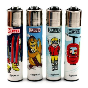 Lot de 4 Briquets Clipper – Station Ski