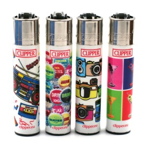 Lot de 4 Briquets Clipper – Pop Art 2
