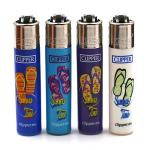 Lot de 4 Briquets Mini Clipper – Summer Time
