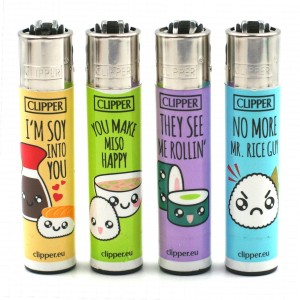 Lot de 4 Briquets Clipper – Sushi Fun
