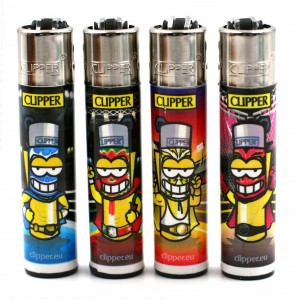 Lot de 4 Briquets Clipper – Cliperman Mexicain Wrestlers
