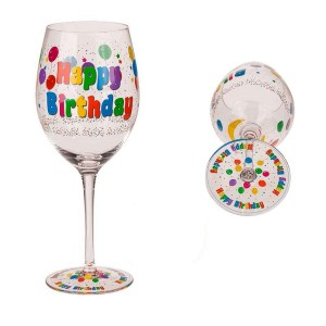 Verre à Vin Anniversaire  - Happy Birthday