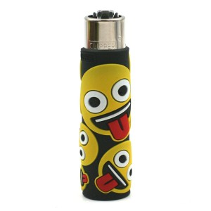 Clipper Etui Pop Cover – Emoji Langue Noir