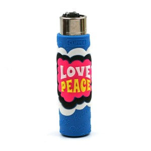 Clipper Etui Pop Cover – Hippie Love Peace Bleu