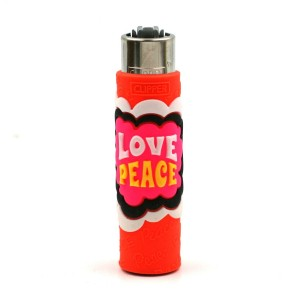 Clipper Etui Pop Cover – Hippie Love Peace Orange
