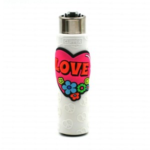 Clipper Etui Pop Cover – Hippie Love Blanc