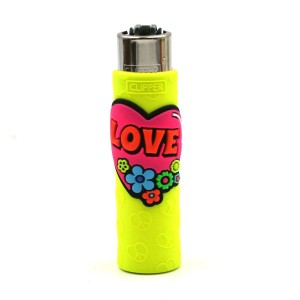 Clipper Etui Pop Cover – Hippie Love Jaune