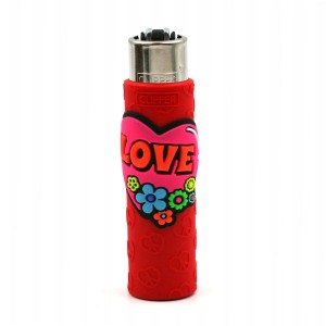 Clipper Etui Pop Cover – Hippie Love Rouge