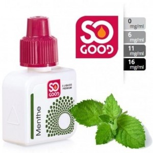 E-Liquide Menthe 6mg/l - SO GOOD 10 ml