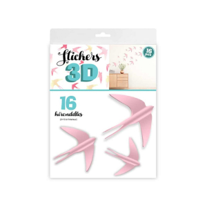 Stickers 3D Hirondelles – Couleur Rose