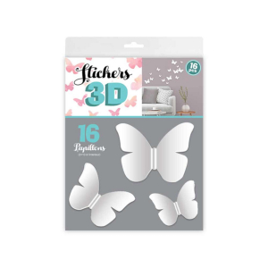 Stickers 3D Papillons – Couleur Blanc