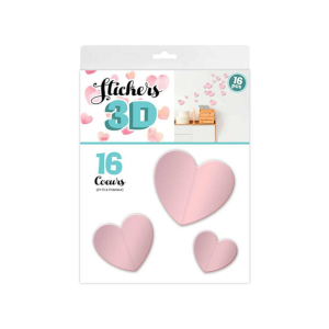 Stickers 3D Coeur – Couleur Rose