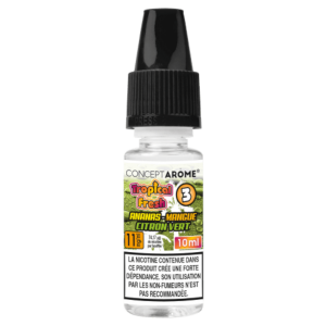 E-liquide Conceptarôme Tropical Fresh N°3 – 11 mg.