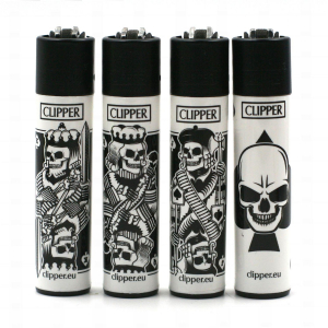 Lot de 4 Clipper Skull Mix 2