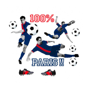 Stickers 100 % Paris - 1 Planche 50 x 70 cm (M)