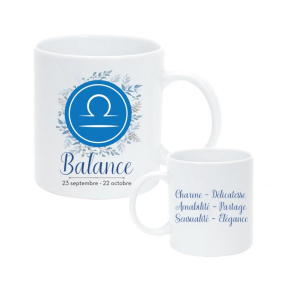 Mug Couleur Horoscope Balance