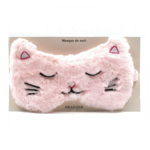 Masque de Nuit doudou - Chat rose