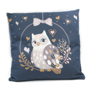 Coussin Chouette Olympia -  40 x 40 cm