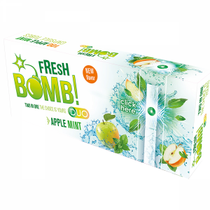 Boite de 100 Tubes à Capsules  Fresh Bomb! Duo - Apple Mint