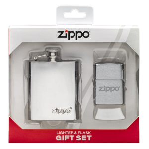 LIGHTER & FLASK GIFT SET ZIPPO