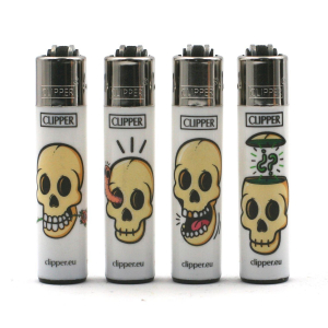 Lot de 4 Mini Clipper – White Skulls