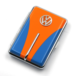 Etui à cigarettes bleu et orange CHAMP collection VW
