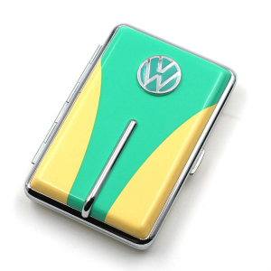 Etui à cigarettes jaune et vert CHAMP collection VW