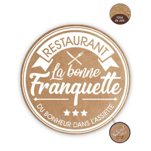 Lot de 6 set de table La Bonne Franquette
