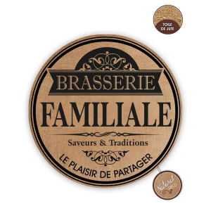 Lot de 6 set de table Brasserie Familiale