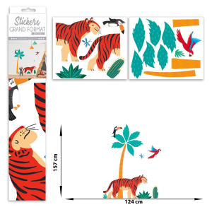 Stickers enfant grand format Tigre
