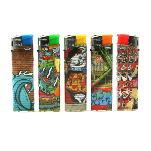 Lot de 5 Briquets Graffiti Street Art