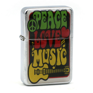 Briquet Essence - Peace Love Music