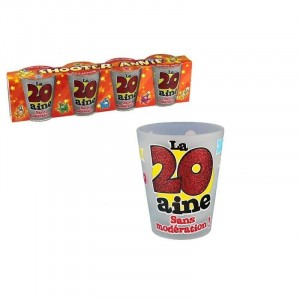 Pack 4 Verres Shooters 20 Ans